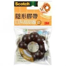 3M Scotch 810BD-2 日系甜甜圈造型膠台(巧克力)