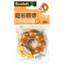 3M Scotch 810BD-1 日系甜甜圈造型膠台(蜜糖)